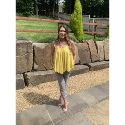 Lucy Cobb Daisy Swing Vest top in Yellow