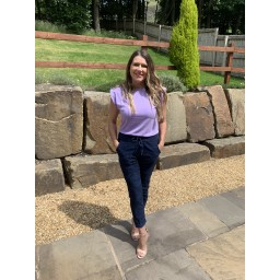 Lucy Cobb Pip Padded Shoulder Tee - Lilac