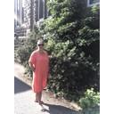 Billie Button Linen Dress - Orange