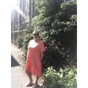 Billie Button Linen Dress - Orange - Alternative 1
