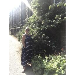 Lucy Cobb Tara Tie-Dye Sleeveless Maxi Dress - Navy