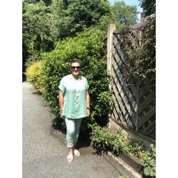 Lucy Cobb Lillie Linen Top - Soft Green