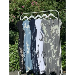 Lucy Cobb Tie Dye Tara Cap Sleeve Dress - White