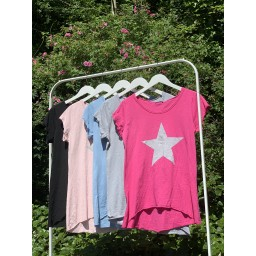 Lucy Cobb Venus Star T Shirt in Silver