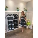 Tania Tye Dye Midi Dress  - Charcoal