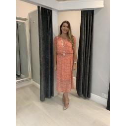 Fransa Fritmesh 1 Dress - Coral