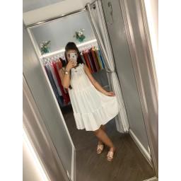 Lucy Cobb Freya Frill Dress in White