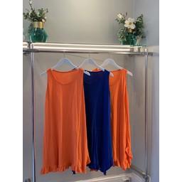 Lucy Cobb Tess Frill Hem T Shirt Dress - Royal (67)