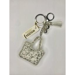 Lucy Cobb Jewellery Handbag Keyring - Silver