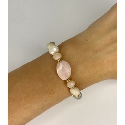 Lucy Cobb Jewellery Bracelet 1896 in Baby Pink