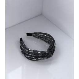 Lucy Cobb Accessories Sparkle headband  - Charcoal