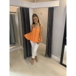 Lucy Cobb Daisy Swing Vest top in Orange