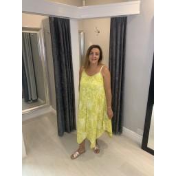 Lucy Cobb Helena Handkerchief Dress - Yellow
