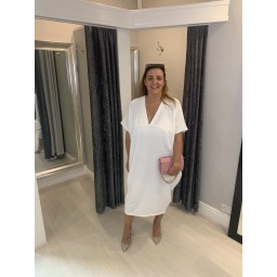Lucy Cobb Monaco Midi Dress - White