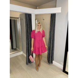 Lucy Cobb Serenity Smock Dress in Fuchsia
