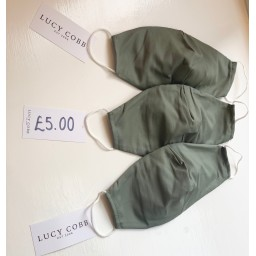 Lucy Cobb Accessories Fabric Face mask - Khaki