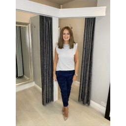Lucy Cobb Camo Magic Trousers - Navy