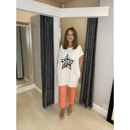 Robell Trousers Bella 09 7/8 Trousers in Coral