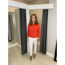 Lucy Cobb Rosie Rib Knit Jumper in Red
