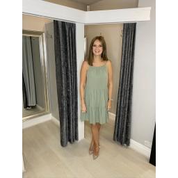 Lucy Cobb Talia Tie Strap Dress - Khaki