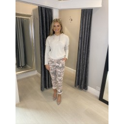 Lucy Cobb Camo Magic Trousers in Baby Pink