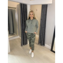 Lucy Cobb Camo Magic Trousers in Khaki