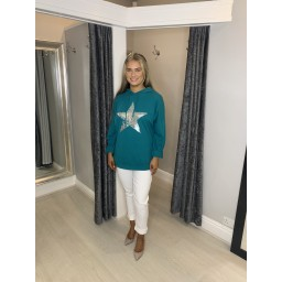 Lucy Cobb Neptune Oversized Hoodie in Teal