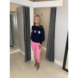Lucy Cobb Orion Star Jumper in Navy