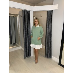 Lucy Cobb Scarlett Shirt Dress in Soft Green