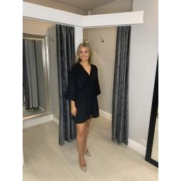 Lucy Cobb Ballie Batwing Dress in Black