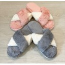 Crossover Slippers - Baby Pink