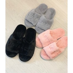 Lucy Cobb Love Slippers - Baby Pink