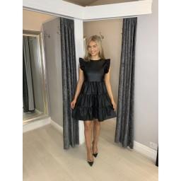 Lucy Cobb Pixie PU Leather Dress  - Black