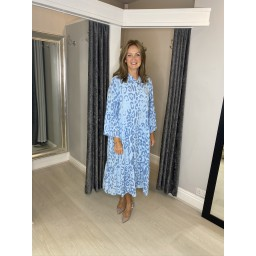 Lucy Cobb Tulum Maxi Dress in Light Blue (611)