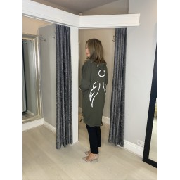 Lucy Cobb Angelica Wing Back Jacket in Khaki