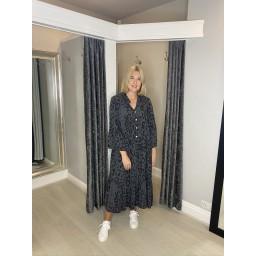 Lucy Cobb Tulum Maxi Dress - Charcoal