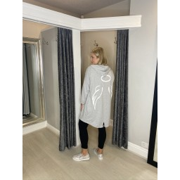 Lucy Cobb Angelica Wing Back Jacket in Silver Grey