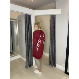 Lucy Cobb Angelica Wing Back Jacket in Wine