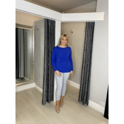 Lucy Cobb Super Soft Luxury Star Jumper in Royal