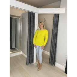Lucy Cobb Star Jumper in Citrus