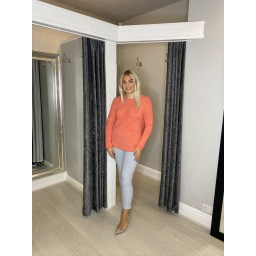 Lucy Cobb Star Jumper - Coral