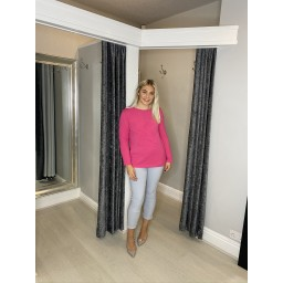 Lucy Cobb Star Jumper in Fuchsia
