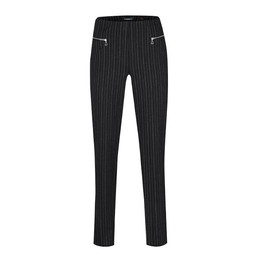 Robell Trousers Mimi Chalk Pinstripe Trousers - Charcoal