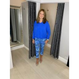 Lucy Cobb Harley Soft Knit Hoodie - Cornflower Blue