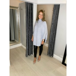 Lucy Cobb Rosa Roll Neck Jumper - Silver Grey
