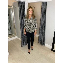 Lucy Cobb Siri Leopard Print Shirt - Black Animal Print