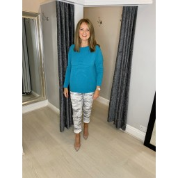 Lucy Cobb Super Soft Luxury Star Jumper in Teal