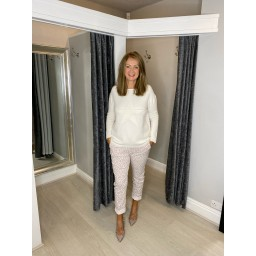 Lucy Cobb Star Jumper in Winter White