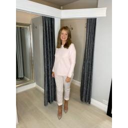 Lucy Cobb Super Soft Luxury Star Jumper in Baby Pink