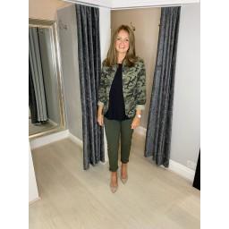 Lucy Cobb Camo Military Jacket - Khaki